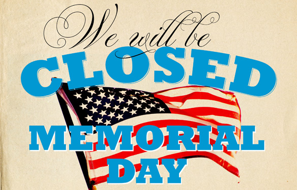 Inventive image within closed for memorial day printable sign